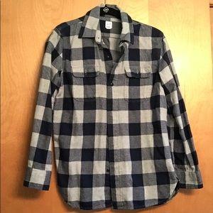 Boy's buffalo plaid flannel shirt, Gap, XL (12)